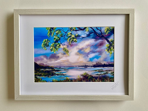 Framed Print of Walk by the Beaulieu River