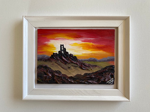 Sold/Corfe Castle in a Frame. Canvas 7'x5'