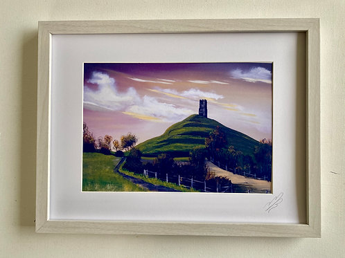 Framed Print of Path up Glastonbury Torr