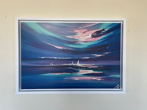 Framed Canvas Print of Three O'clock in the Morning