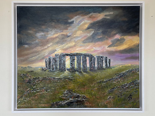 Stormy Sky over Stonehenge in a Frame 64x54cm