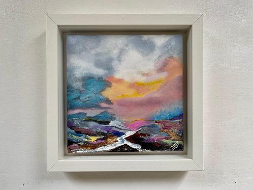 Sold/Storm Clouds Framed 25x25 cm