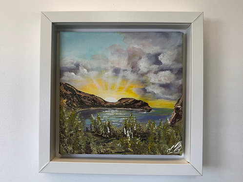 Sold/Sunrays over Lulworth Cove