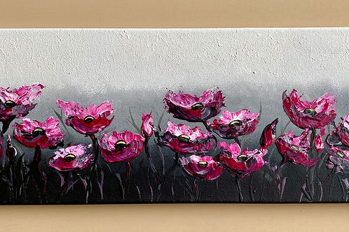 Abstract Poppies on a PanoramicCanvas