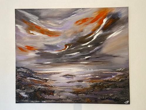 Wild Sky over a Textured Seascape. 60x50 cm