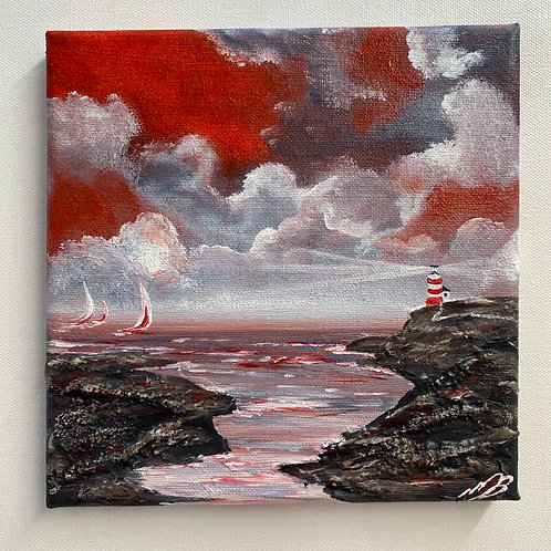 Lighthouse at the Entrance of the Harbour. 8'x8'