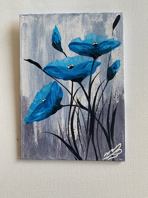 Sold/BLUE POPPIES FOR CHARITY