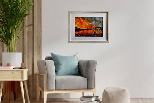 Print of Muddeford Quay sunset A4