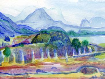 Near and Far: The Torridon Mountains Near Gairloch