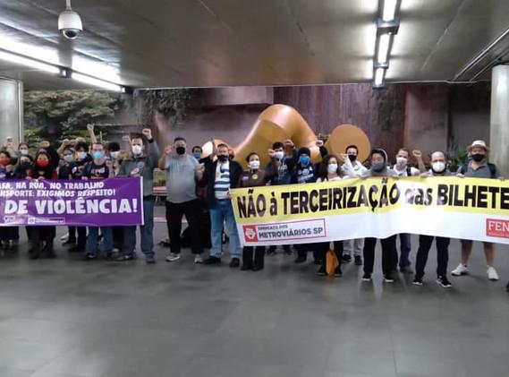 Manifestação dos metroviários