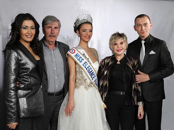 Miss Elégance France et Bernard Menez, Sophie Darel, Karima Charni, Eddy Lefaux
