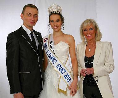 Miss Elégance France et Evelyne Leclercq