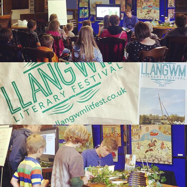 A belated shout out to the marvellous Llangwm Literary Festival for hosting me last month