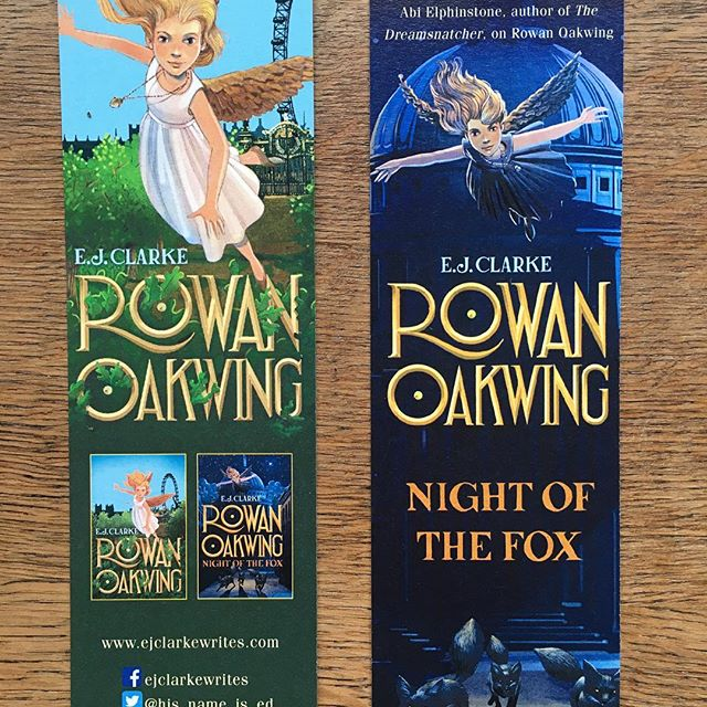 The rather wonderful bookmarks _hachettekids made for the #RowanOakwing book launch!__#londonfairyta