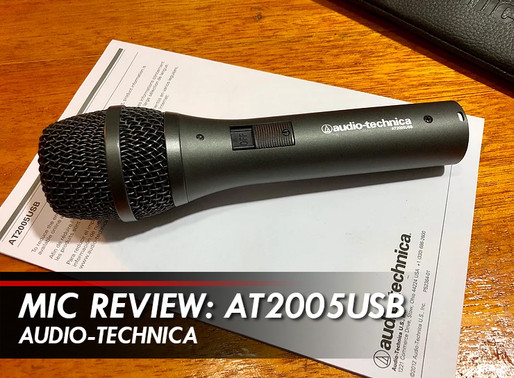PINOY PODCASTER Mic Review: Audio-Technica AT2005USB