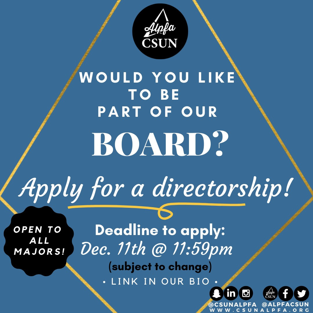 Apply for a Directorship Position!