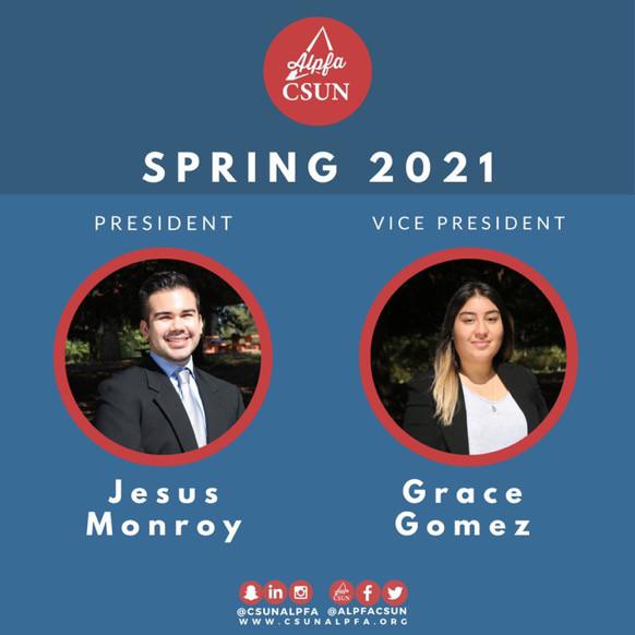 Meet ALPFA's Spring 2021 President and Vice President!