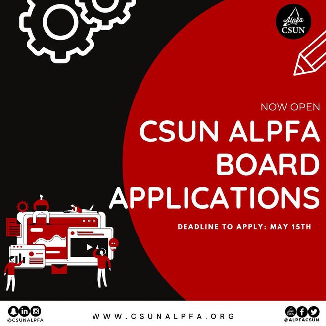CSUN ALPFA Directorship Application