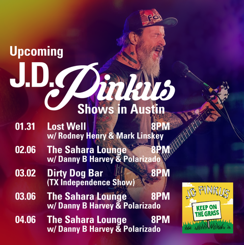 JD Pinkus Shows in Austin
