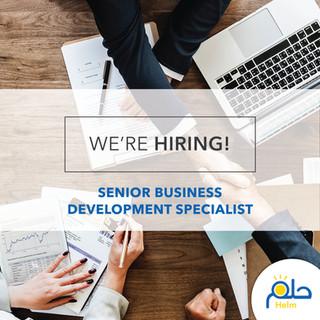 Call for a Senior Business Development Specialist