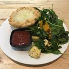 Vege pie with salad
