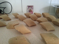 Getting ready to bake bread