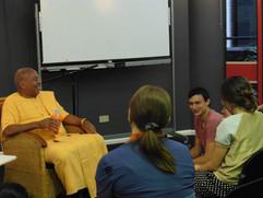"Hosting a ""Karma"" event with a travelling Bhakti Yoga Swami."
