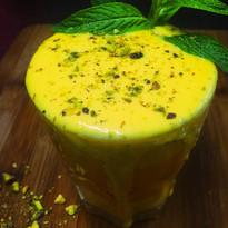 Mango lassi yoghurt drink