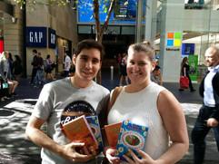 Distributing Bhakti Yoga literatures to locals in the heart of Australia's biggest city, Sydney.