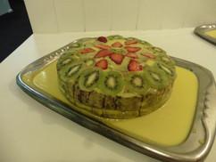 We baked a custard cake!