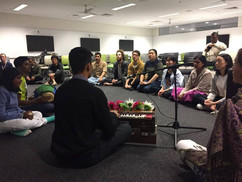 A Happy Jiva event with the Mantra Meditation Club in UNSW.