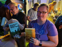 A Happy Jiva guest taking home her very own copy of the Bhagavad Gita - yoga's prime text :)