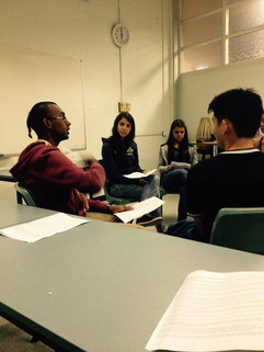 Group discussion with students at USYD.