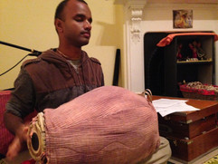 Shyam on the drum