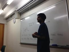 Shyam facilitating a discussion.