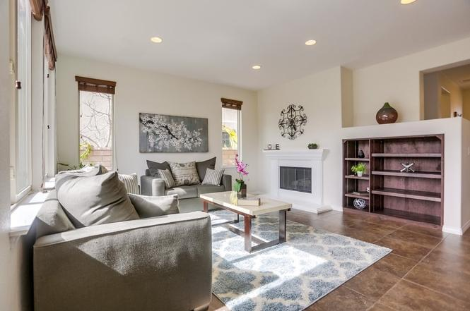 Home Staging Gray Sofas living room