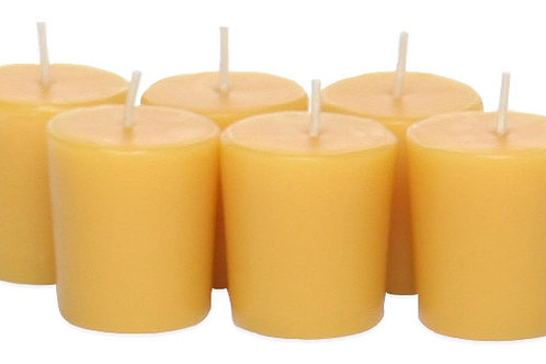 Beeswax Votive Candles - Set of 6