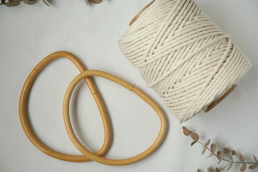 ערכה ליצירת תיק ממקרמה ידיות במבוק