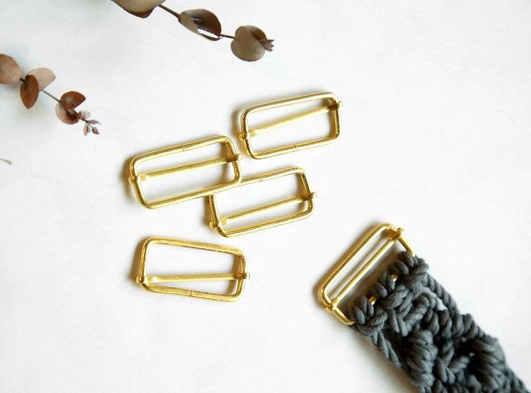 5 אבזמים ליצירת חגורת מקרמה בצבע זהב