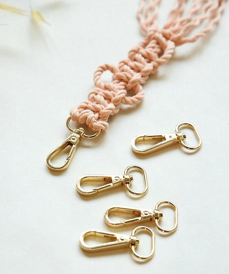 5 תופסנים למחזיקי מפתחות בצבע זהב