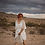 Thumbnail: Boho Wedding DressFloral Lace Ivory Sheer Maxi Dress 1044