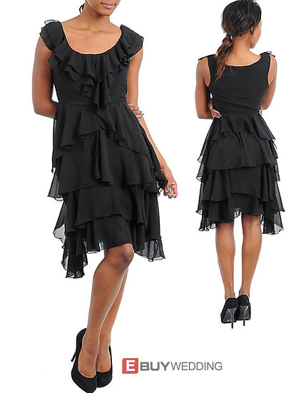 Elegant Short Chiffon Tiered Homecoming/ Party Dresses, LBD
