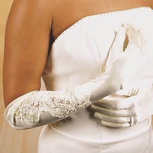Glamourous Bridal Glove GL1038-12A