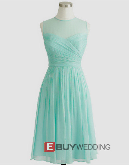 Elegant Column Sleeveless Short Chiffon Tulle Homecoming Dresses