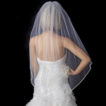 Bridal Wedding Single Layer Fingertip Length Veil 900 1F