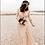 Thumbnail: Golden Lace Wedding Dress, Vintage Inspired Maxi Wrap Dress 1124