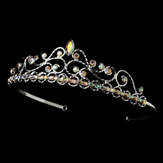 Silver AB Bridal Tiara HP 269