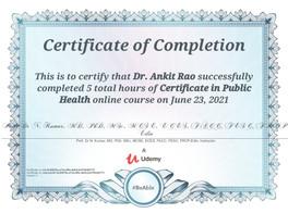 Public Health Dr. Ankit Rao