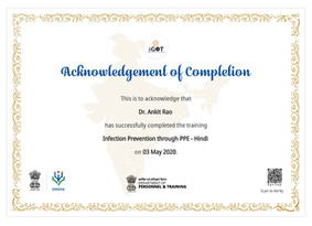 Government of India - Infection Prevention - Dr. Ankit Rao