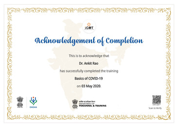 Government of India - Basics Of Covid 19